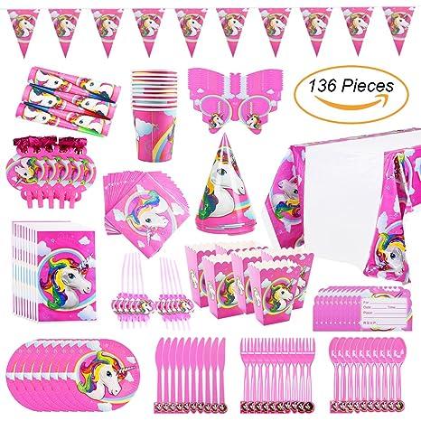 Amazon.com: Unicornio decoración para cumpleaños y fiesta ...