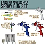 TCP Global Brand HVLP Spray Gun Set - 3 Sprayguns