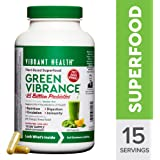 Vibrant Health - Green Vibrance, Natural Daily Superfood + Probiotics and Digestive Enzymes, 15 Servings (FFP)