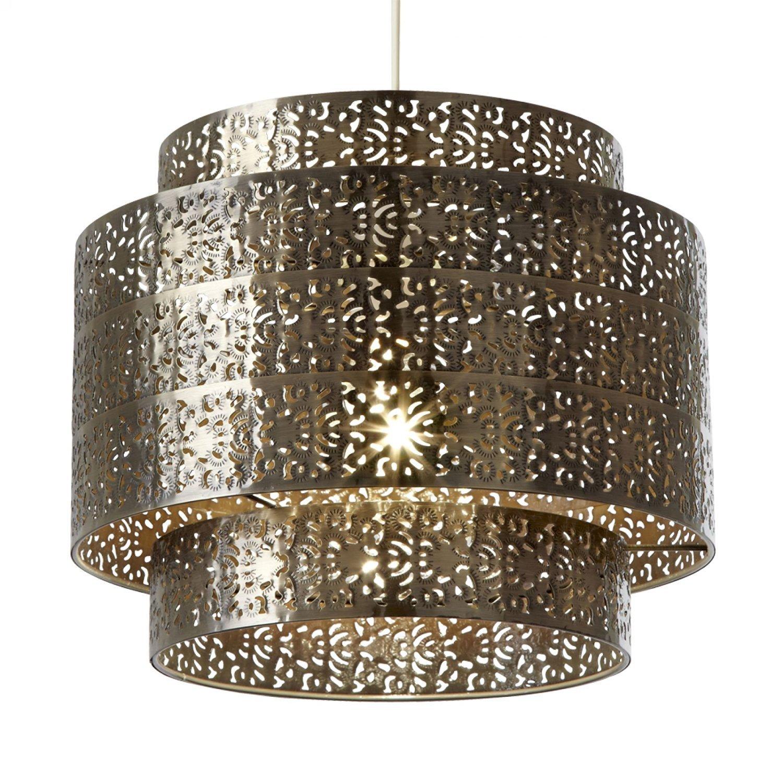 Endon Non electric lamp shade bronze metal NE BRAMHAM BZ shade