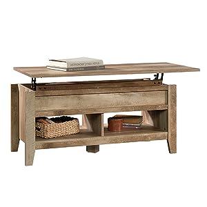 """Sauder 420011 Dakota Pass Lift Top Coffee Table, L: 43.15"""" x W: 19.45"""" x H: 19.02"""", Craftsman Oak finish"""