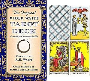 La original Rider Waite Tarot de Deck con un folleto en alemán.: Amazon.es: Juguetes y juegos