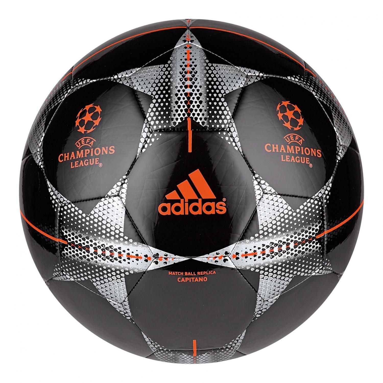 adidas FIN15CAP - Balón de fútbol, Color Negro/Plata / Naranja, Talla 4 AC0698
