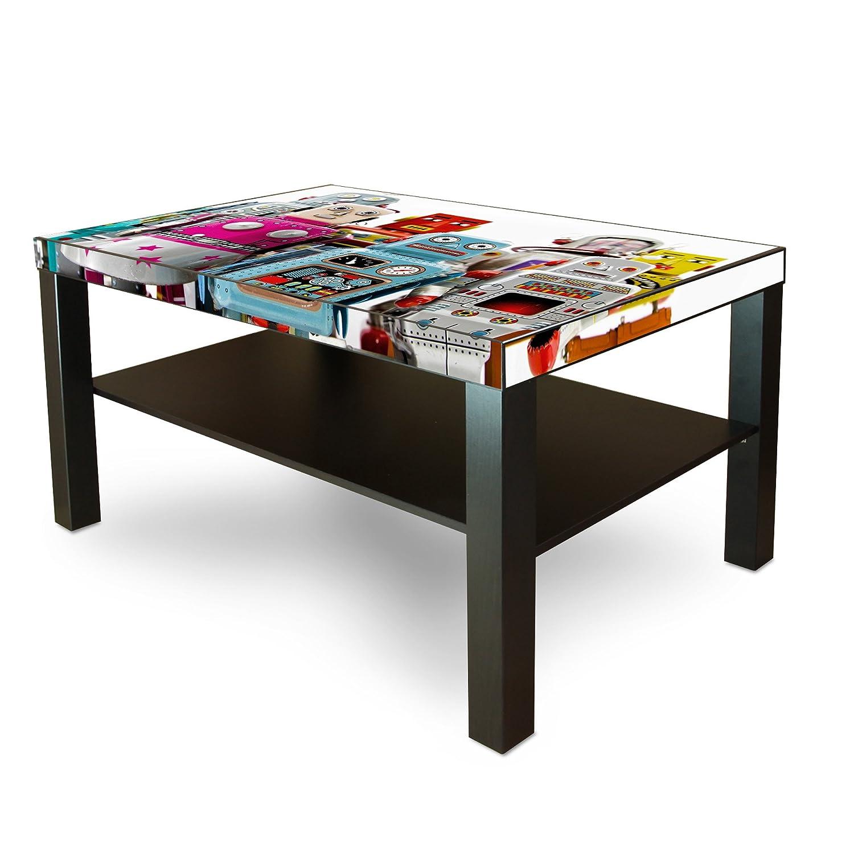 Diseño de adhesivo banjado para IKEA de laca de la mesa de 90 x 55 cm con diseño de: robot aspirador: Amazon.es: Hogar