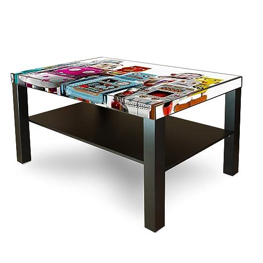 Diseño de adhesivo banjado para IKEA de laca de la mesa de 90 x 55 ...
