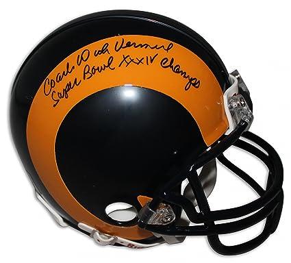 """384e8a865e3 Coach Dick Vermeil St. Louis Rams Autographed Mini Helmet  Inscribed""""Super Bowl XXXIV Champs"""""""