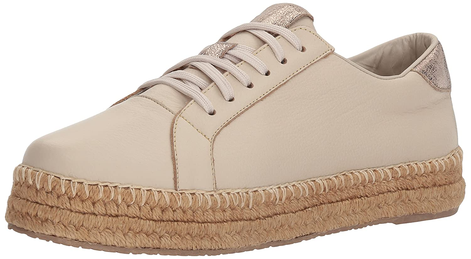 KAANAS Women's Arizona Leather Espadrille 6 Platform Lace-up Sneaker B075MT4JXQ 6 Espadrille B(M) US|Cream 94b5e1