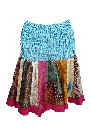 69304c2c6d Womens Mini Skirts Sky Blue Silk Flowy Swing Short Flirty Skirts ...