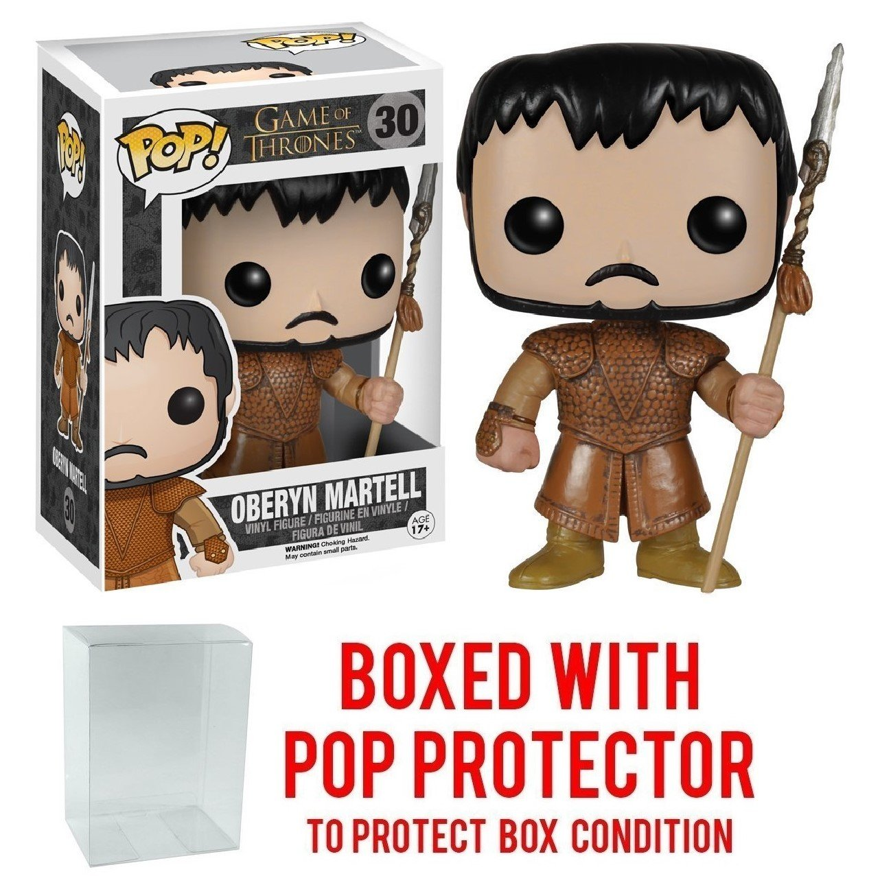 Funko Pop! Game of Thrones - Oberyn Martell Vinyl Figure (Bundled with Pop BOX PROTECTOR CASE)