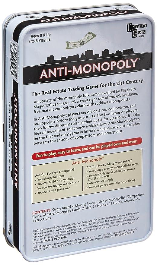 Amazon Anti Monopoly Game Tin Toys Games