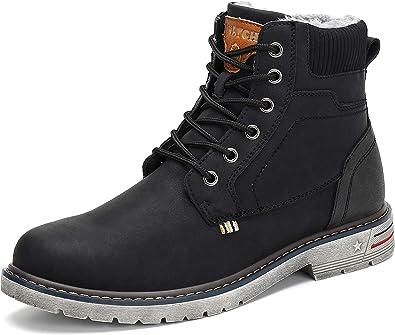 Zapatos de hombre botas impermeables de invierno botas de nieve de felpa para hombre calzado de invierno Casual de moda de cuero zapatos de invierno