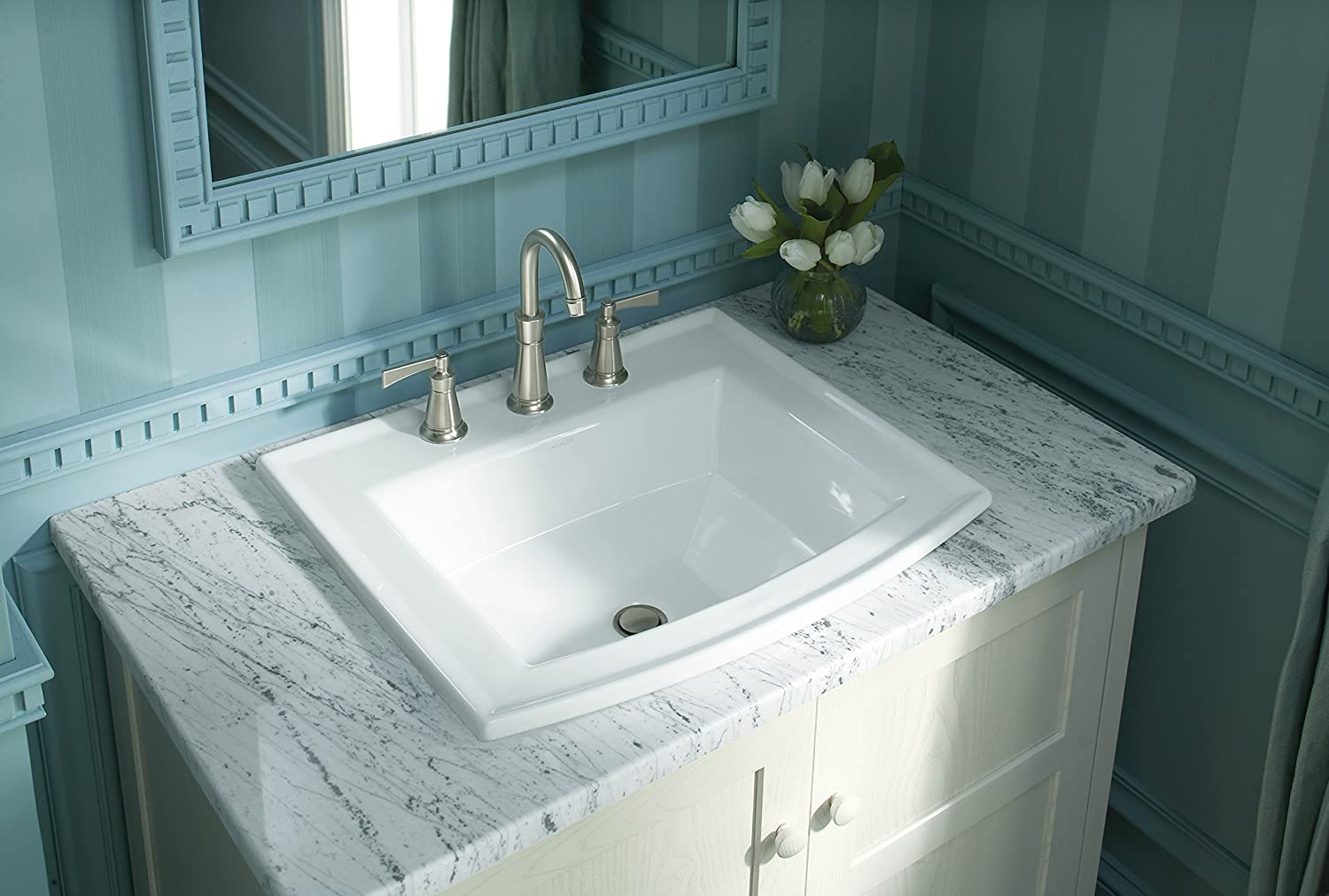 Kohler K-2356-4-0 Archer Bathroom Sink, White - - Amazon.com