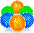 SHARLOVY Squeaky Balls for Dogs Small, Fetch Balls for Dogs Rubber 6 Pack Bright Colors TPR Puppy Toys Dog Toy Balls Dog Squeaky Toys Spike Ball Dog Chew Toys for Small