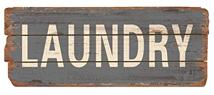 Laundry Room Wall Décor Vintage Handmade Rustic Wooden Plaque Laundry Sign    Chic U201cWornu201d