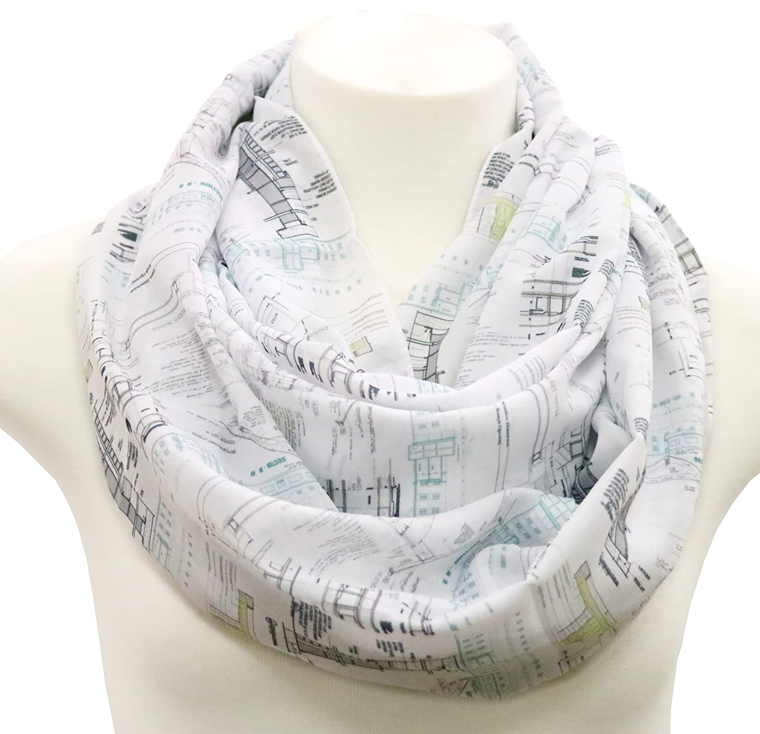 Architectural infinity Scarf Gift idea for architects construction ...