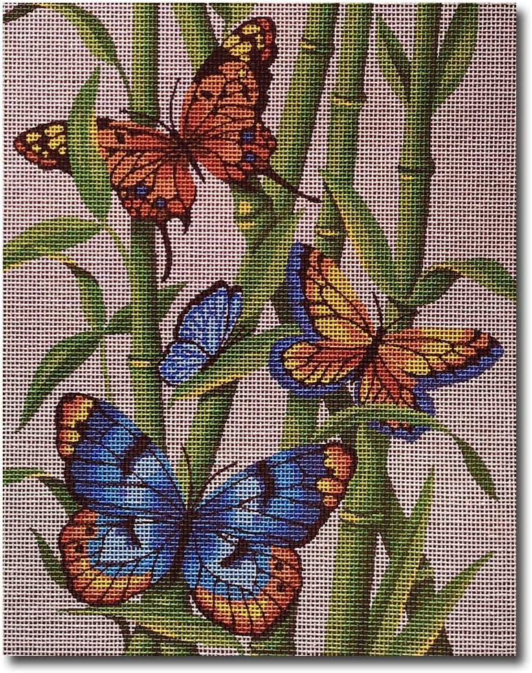 Hudemas Needlepoint Kit Butterflies 8x10in 20x25cm Printed Canvas cod 493