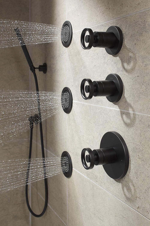 Matte Black Kohler K-T78026-9-BL Components Shower Trim