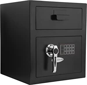 Barska AX11932 Standard Keypad Security Depository Drop Safe 0.72 Cubic Ft