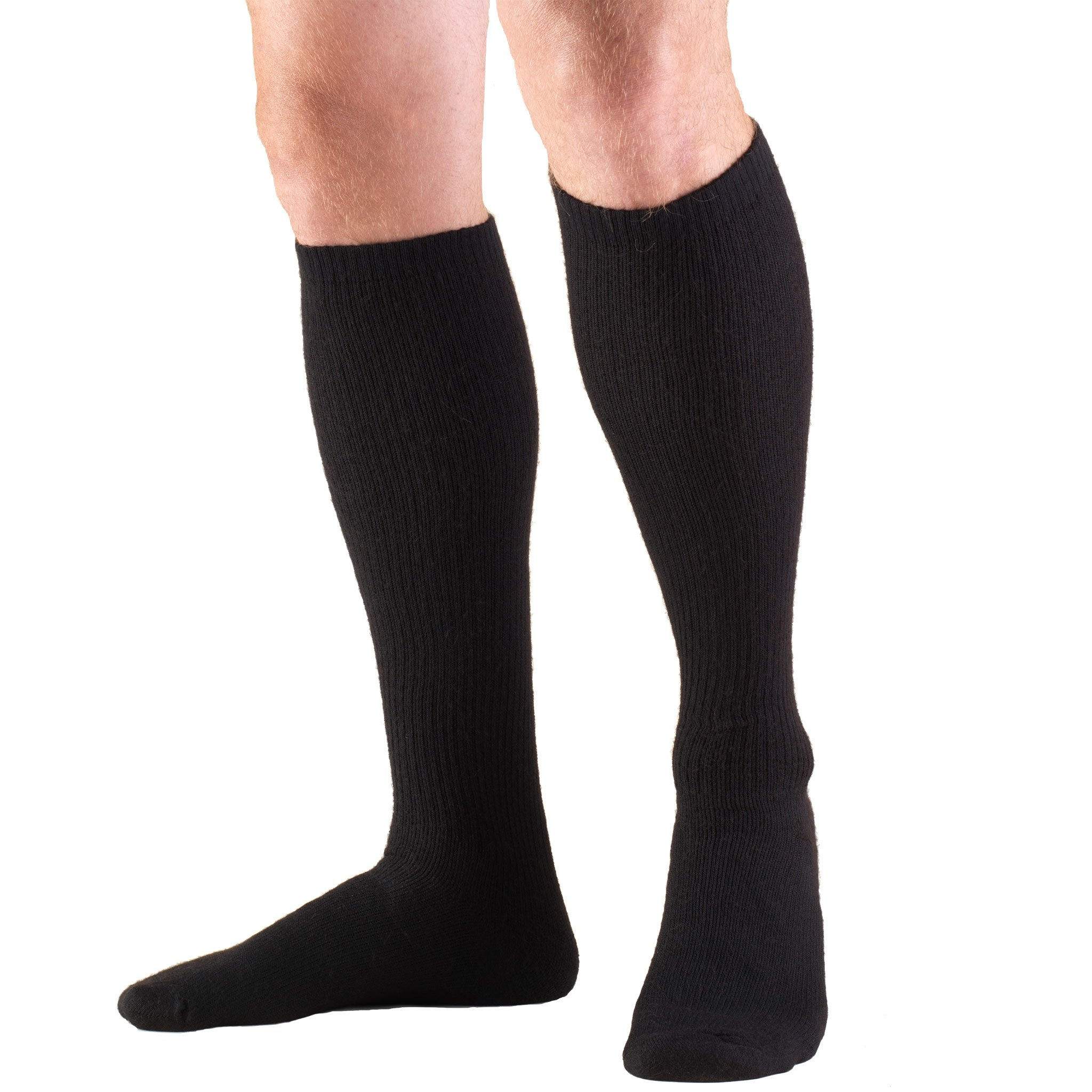 Truform Compression Socks 20-30 mmHg Knee High, Black, X-Large