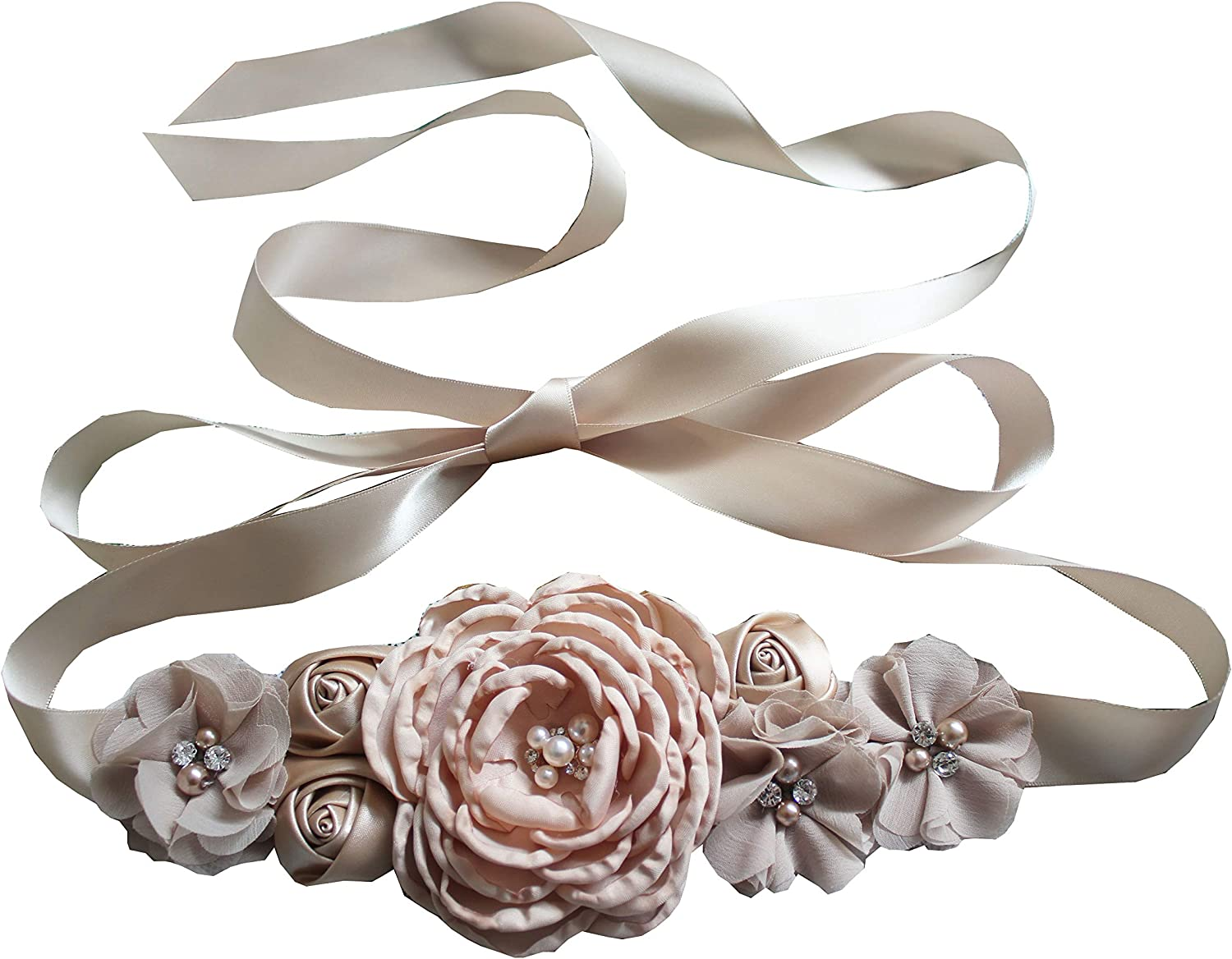 Flowers materniry sash baby shower pregnancy belts for Mom to be