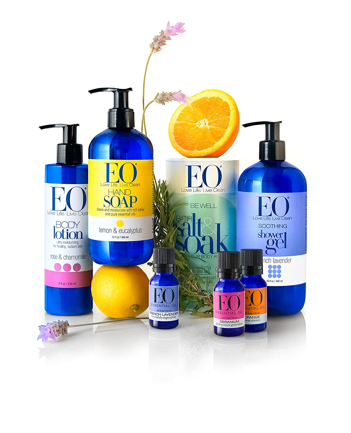 EO Shower Gel, Grapefruit and Mint, 16 Ounce Bottles Pack of 2