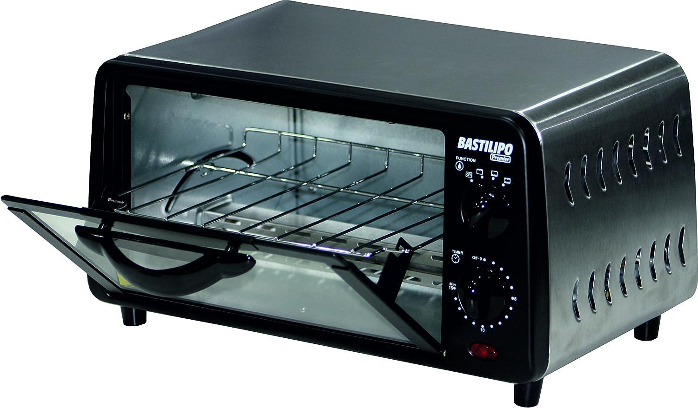 bastilipo Turin–Mini Four Grille-pain, capacité 9l, grille auto amovible, 800W, couleur noir [Classe énergétique G] Cia. Pineda Alvarez S.L.