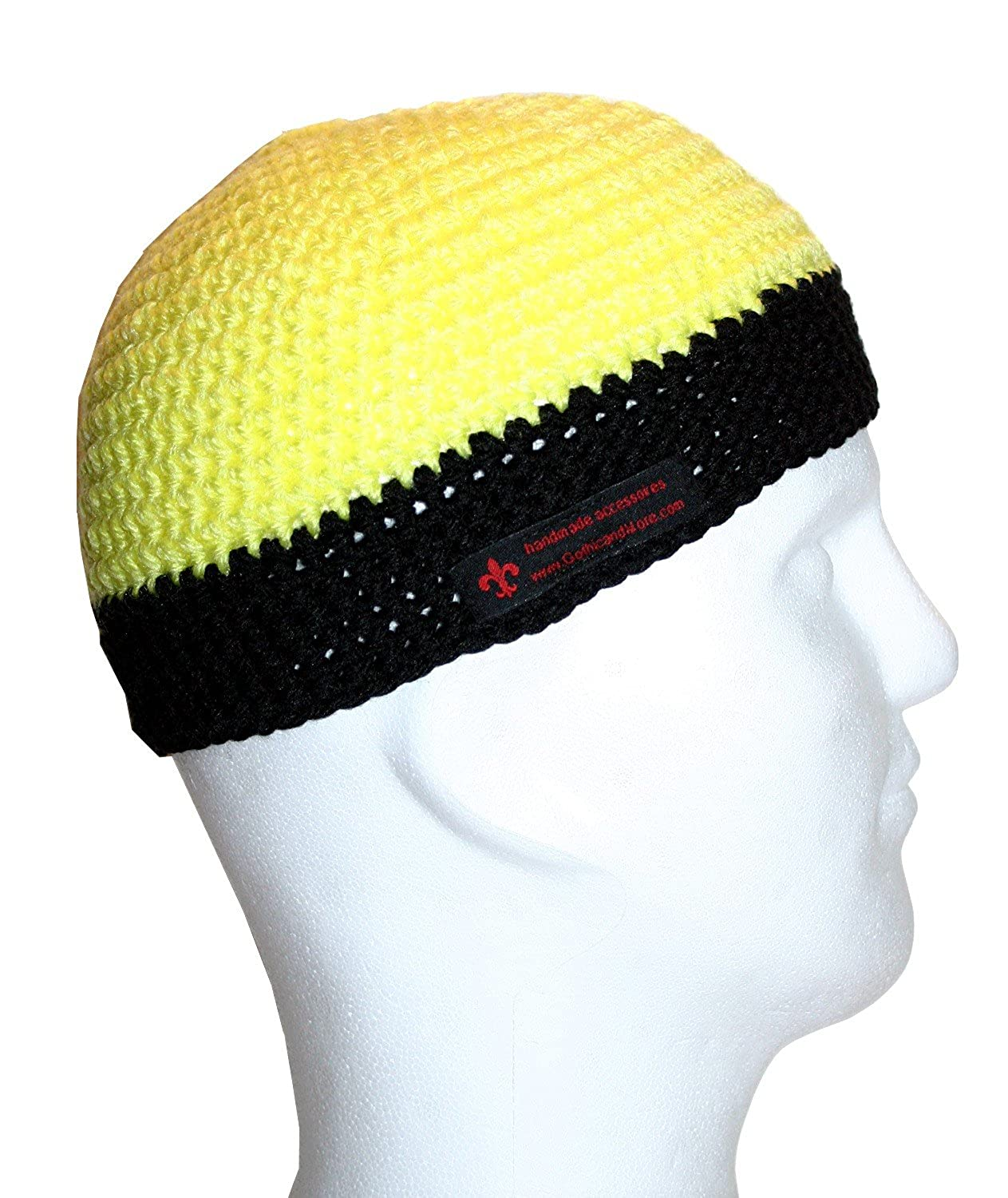 6bc8260fcbc Gothic and More Men s Plain Beanie Yellow Neon Gelb