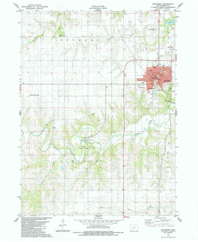 Amazon Com Yellowmaps Winterset Ia Topo Map 1 24000 Scale 7 5 X