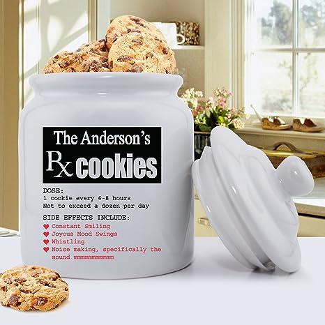 amazon com personalized ceramic cookie jar personalized cookie