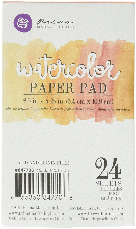 Prima Marketing 655350847708 Watercolor Paper Pad 2 Prima Marketing Inc ca home PS3ZQ