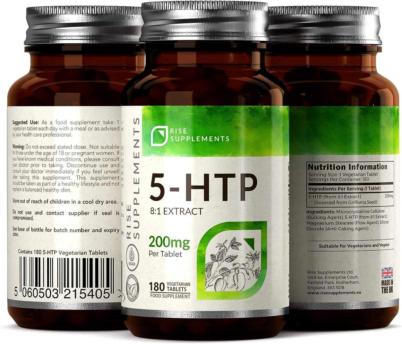 5-HTP CAPSULAS - 200 mg   APOYO NATURAL DEL MEJOR ÁNIMO Y DEL ...