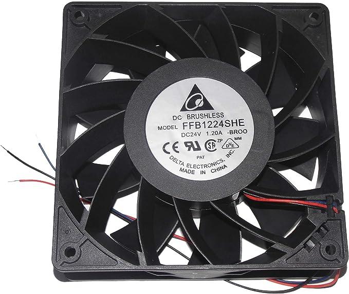 Delta AFB1224HE-R00 DC Fans 120x120x38mm 24V DC Fan w//Speed Sensor Lock