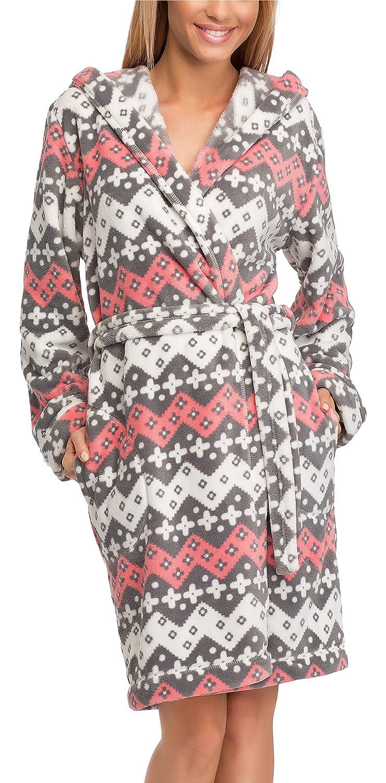 L&L Bata con Capucha Ropa de Casa Mujer LL0106