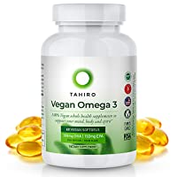 Vegan Omega 3 Supplement – with 300mg Algae Based DHA, 150mg EPA – 60 Sustainable...