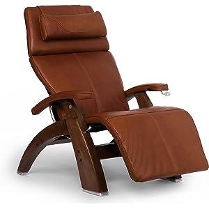 Human Touch Perfect Chair PC-420 Classic Plus Premium Full Grain Leather Zero Gravity Recliner, Cognac