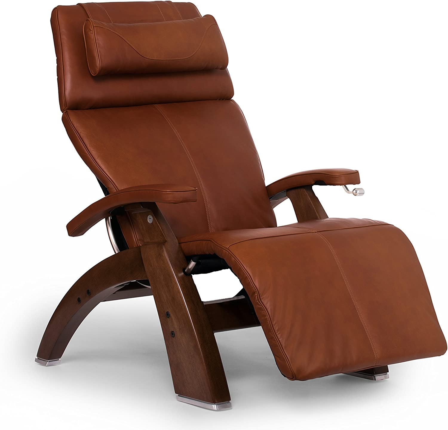 Human Touch Perfect Chair PC-420 Classic Plus Premium Full Grain Leather Zero Gravity Recliner, Cognac