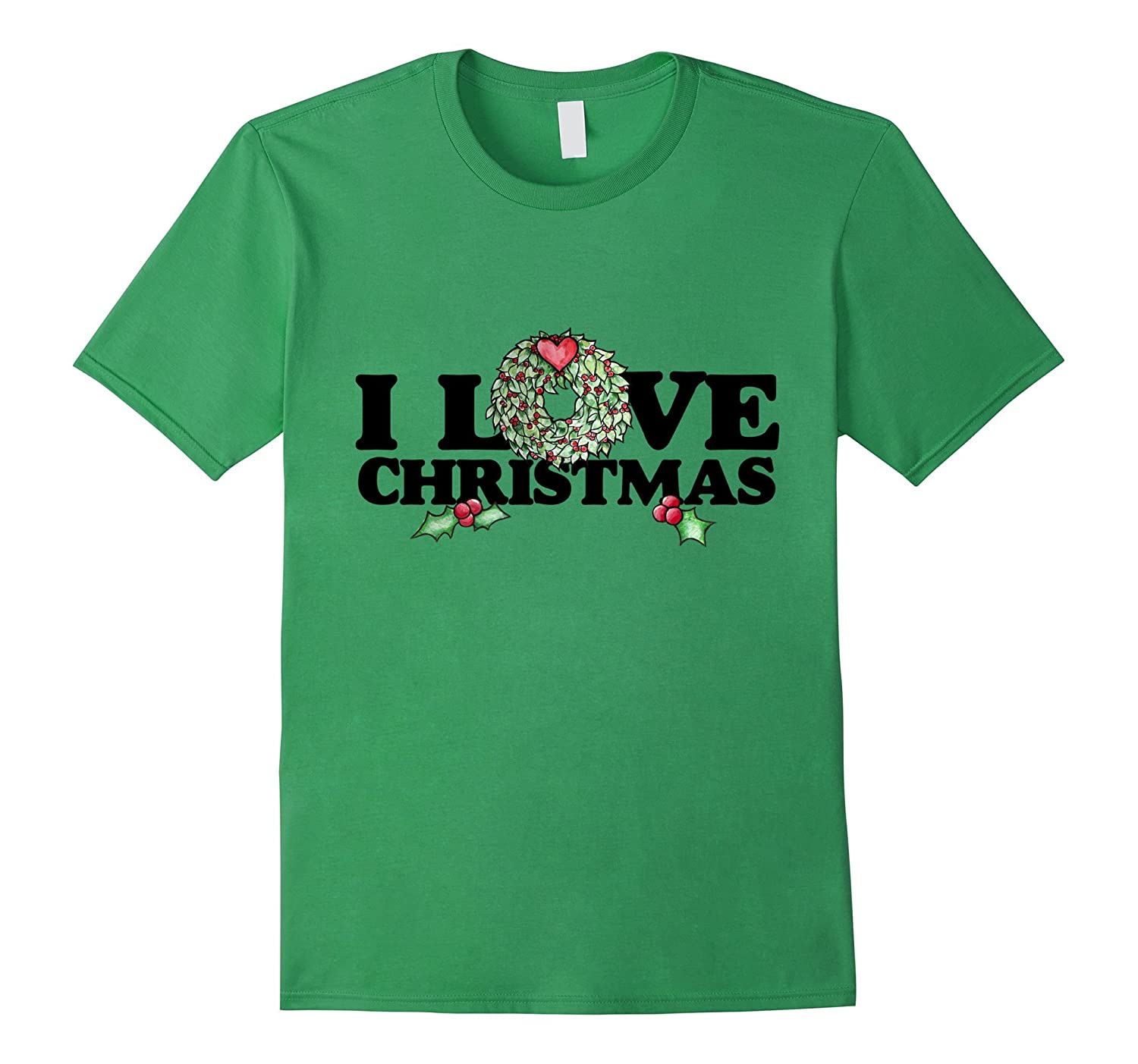 I love Christmas t-shirt cute holiday tshirt xmas party ...