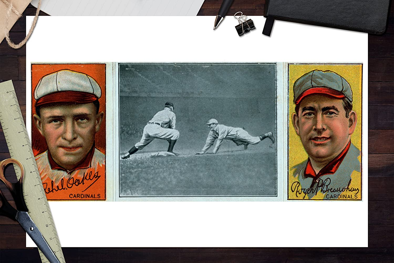 St 24x36 Giclee Art Print, Wall Decor Travel Poster Baseball Card Rebel Oakes Louis Cardinals