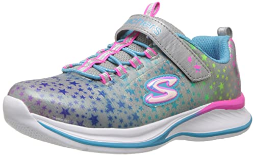 Skechers Jumpinjams-Cosmic Cutie, Zapatillas para Niñas, (Grey/Multicolour