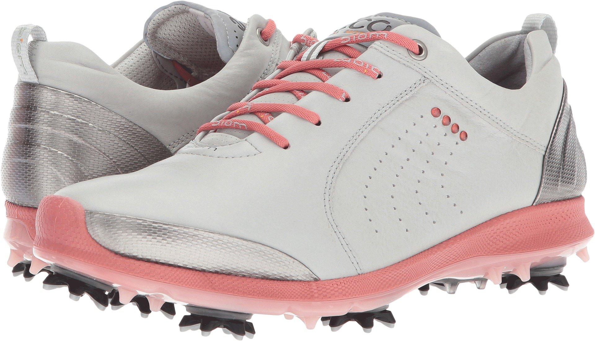 ECCO Women's Boim G 2 Free Golf Shoe, Concrete/Silver Pink, 38 EU/7-7.5 M US