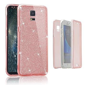 Funda Frontal y Trasera para Samsung Galaxy Note 4, Vandot Shiny Brillo Suave Funda TPU Doble Cover Dual Layer Full Body Shockproof Protector Carcasa ...