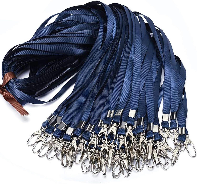 Black Lanyard Bulk Clip Swivel Hooks Nylon Neck Flat Lanyard with Clips Durably Woven Black Badge Lanyards with Clip Black Lanyards for Id Badges,Lanyard with Swivel Hooks 50 Pack 17.5-inch