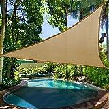 Toldo triangular de protección solar, cubierta para al aire libre, patio, jardín, piscina, para acampar, ir de pícnic