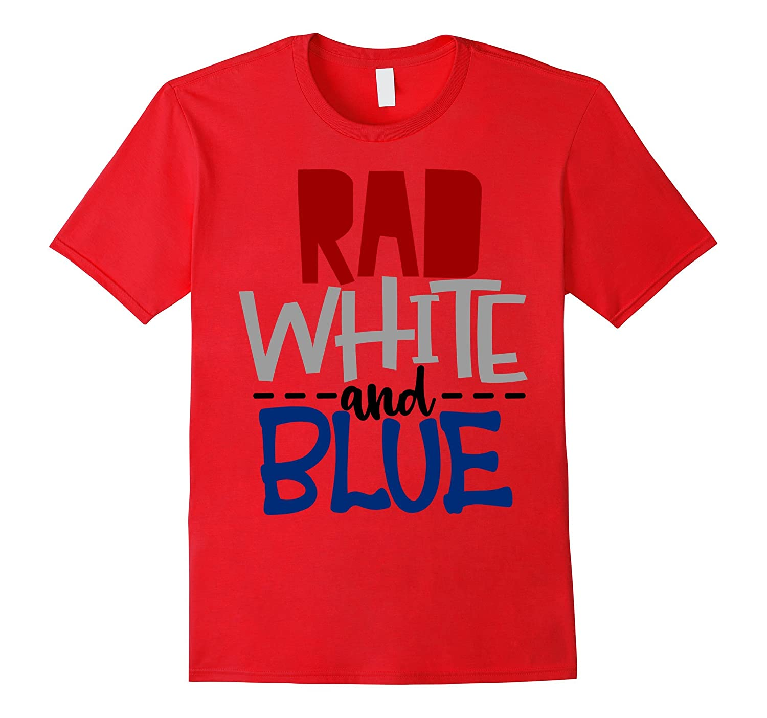 July 4th Shirt America USA Rad White Blue Cool Kids Son Boys-TH