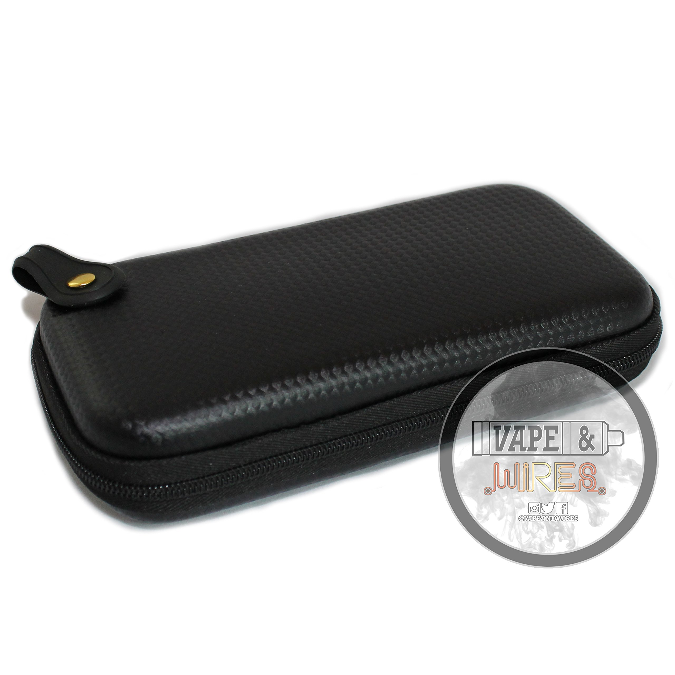 [Vape and Wires] Carbon Fiber Pattern Design Hard Carrying Case for Kanthal Wire, E-Liquid, Vapes, Vape Mods [CASE ONLY] by Vape and Wires