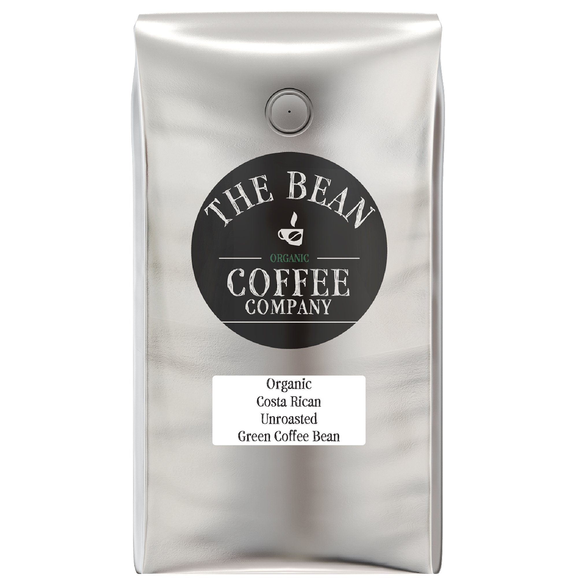 The Bean Coffee Company Organic Unroasted Green Coffee Beans, Costa Rican, 5-Pound Bag