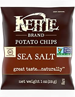 product image for Kettle Brand Potato Chips, Sea Salt, Single-Serve 1 Ounce Bags (Pack of 72)