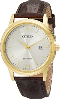 Citizen Mens Eco-Drive Stainless Steel Watch with Date, AW1232-04A