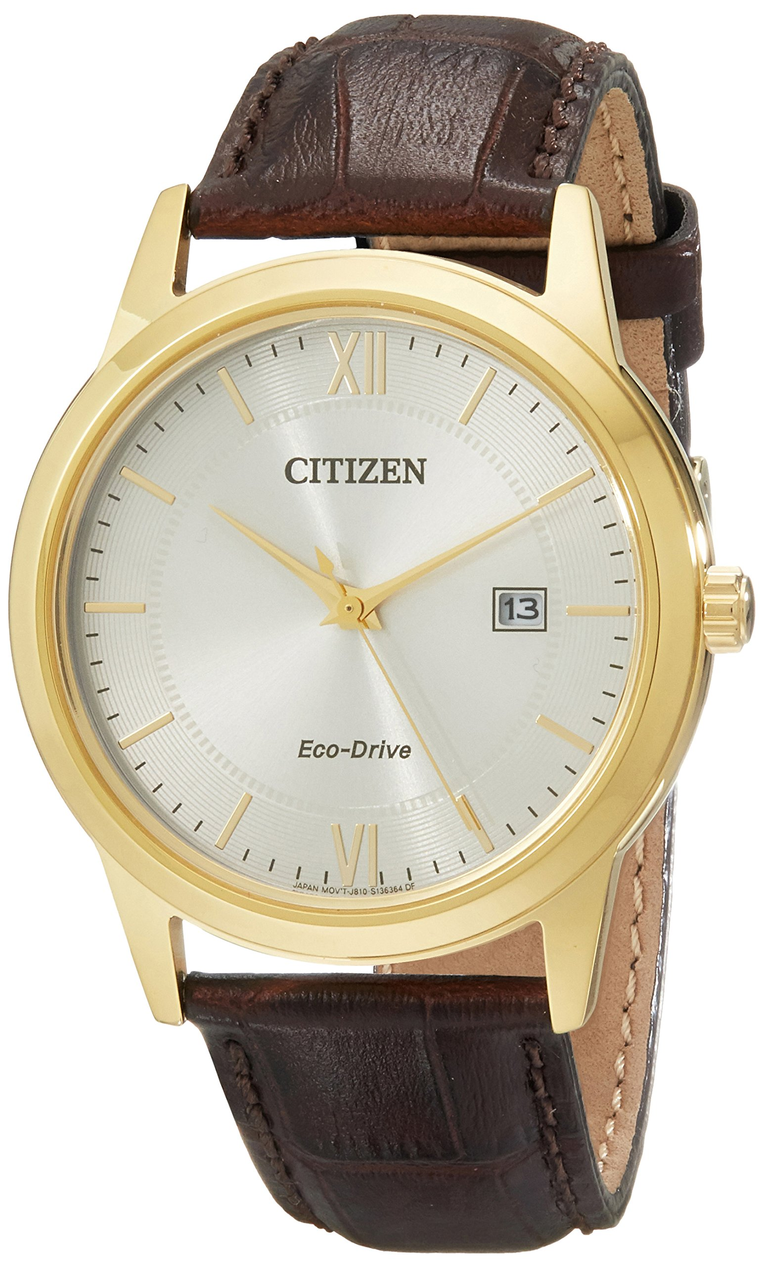 Men's Eco-Drive Stainless Steel Watch with Date, AW1232-04A