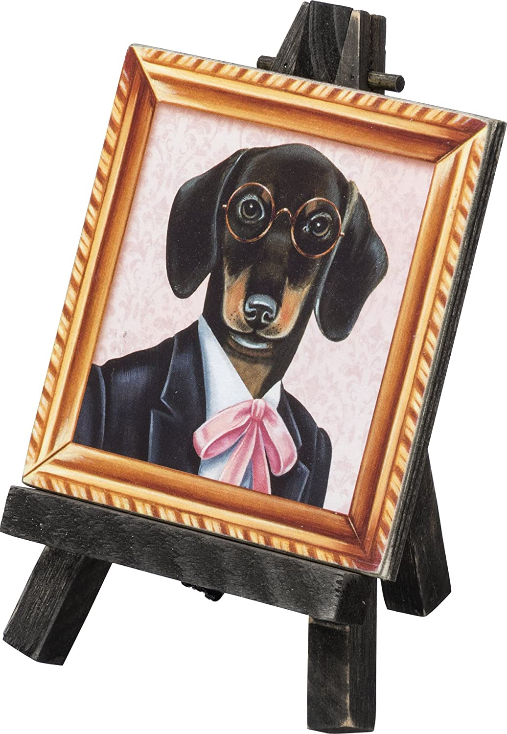 Primatives by Kathy Fun Mini Easel Dogs Decorative Accessory Yorkie